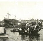 5a. Varo dell'incrociatore Habsburg : Arsenale del Lloyd Trieste 9 settembre 1900 F33748