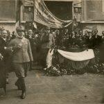 L'offerta dell'armi a San Giusto il 4 novembre 1918