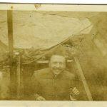 Comandante di un battaglione in un ricovero, Carso