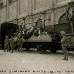 Carro funebre del Milite Ignoto in partenza da Trieste il 3 novembre 1921
