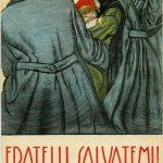 Cartolina di propaganda italiana. Illustrazione di Aroldo Bonzagni