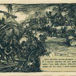 Cartolina di propaganda italiana. Illustrazione di Giuseppe Mazzoni