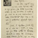 Lettera di Gabriele D'Annunzio ad Angiolina Talkner Corsi