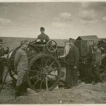 Vittorio Gregorich con alcuni compagni sul fronte Russo nel 1917
