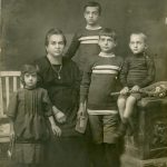 Famiglia Toffolon: mamma e fratelli minori di Eugenio