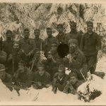 Armando Ravalico con alcuni compagni sui Carpazi nel dicembre 1916