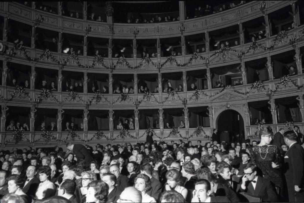 Ugo Borsatti, Anteprima di Senilità Teatro Verdi, 1962, UB NP 4157_65