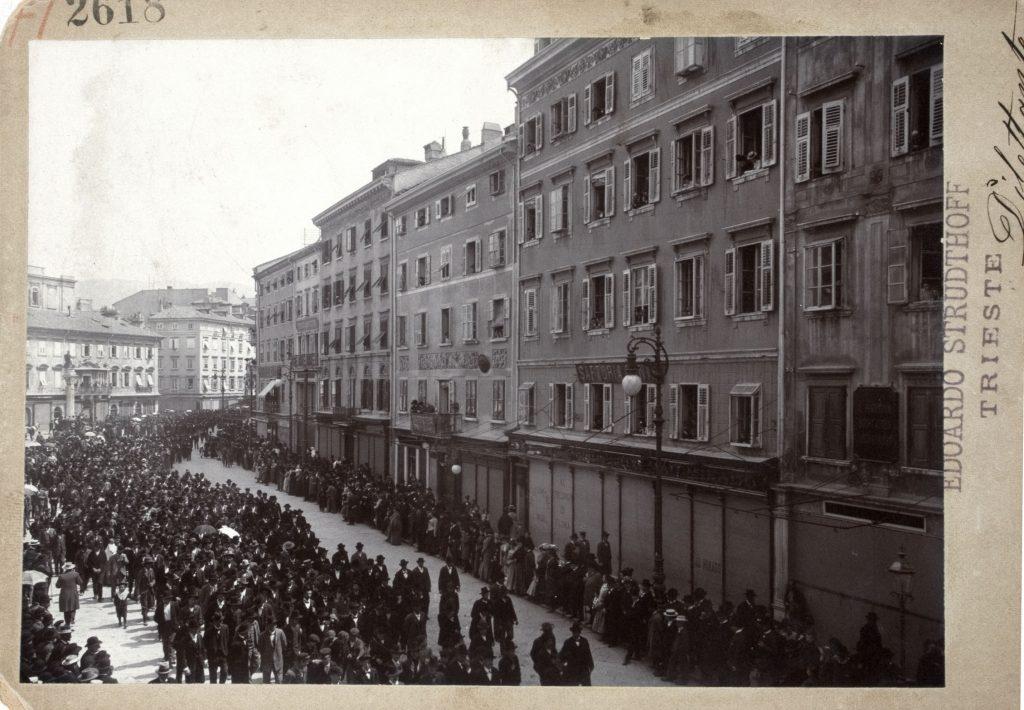 Edoardo Strudthoff, Manifestazione politica prebellica, 1912, F2618