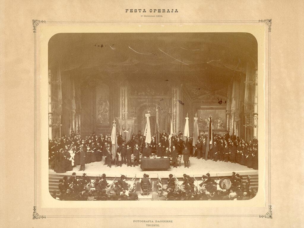 Fotografia Daguerre, Festa operaia, 6.01.1884, F10257