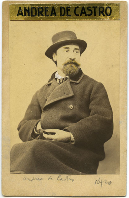 Nuovo studio fotografico del pittore A. de Castro e figlia, Andrea de Castro, (1860-70), F16720
