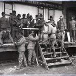 Gruppo di soldati austriaci a Nabresina