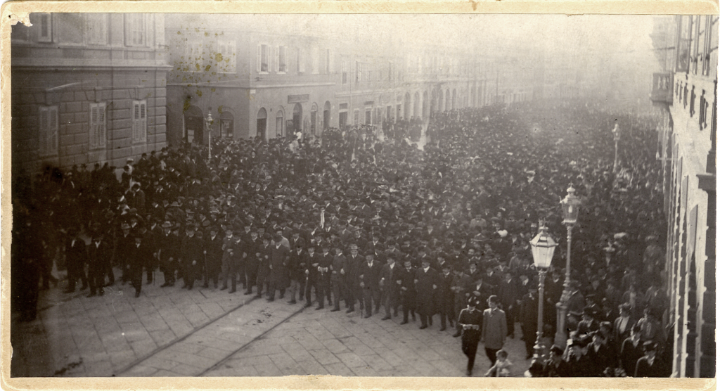 Edoardo Strudthoff, Manifestazione politica prebellica, 1912, F2528